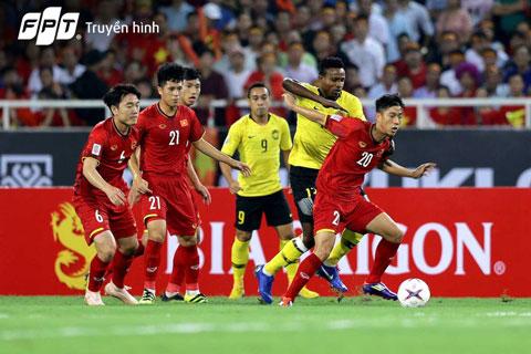 Đội tuyển Việt Nam đánh bại Malaysia trên sân nhà trong trận đấu lượt đi