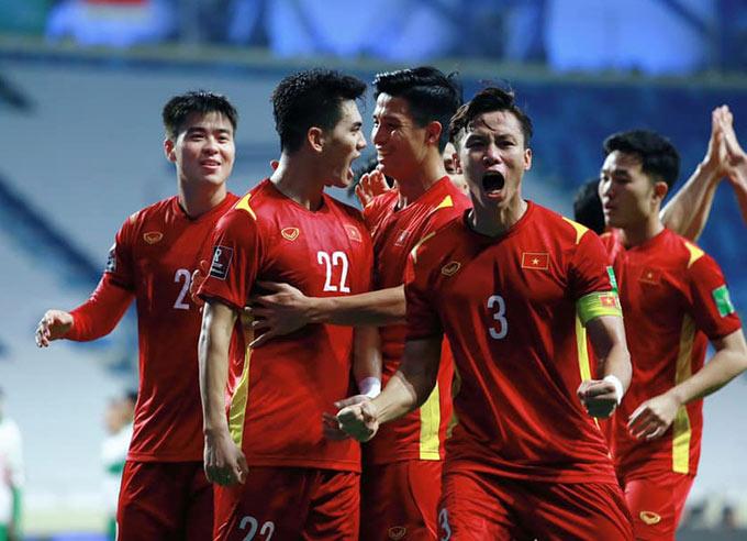 Hàng thủ đội tuyển Việt Nam tạo cột mốc giữ sạch lưới trong 348 phút liên tiếp ở VL World Cup - Ảnh: VFF