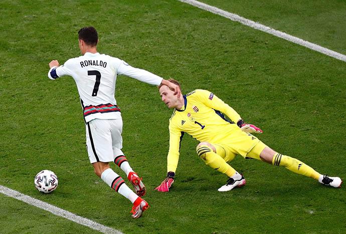 Ronaldo đã có cú đúp vào lưới Hungary