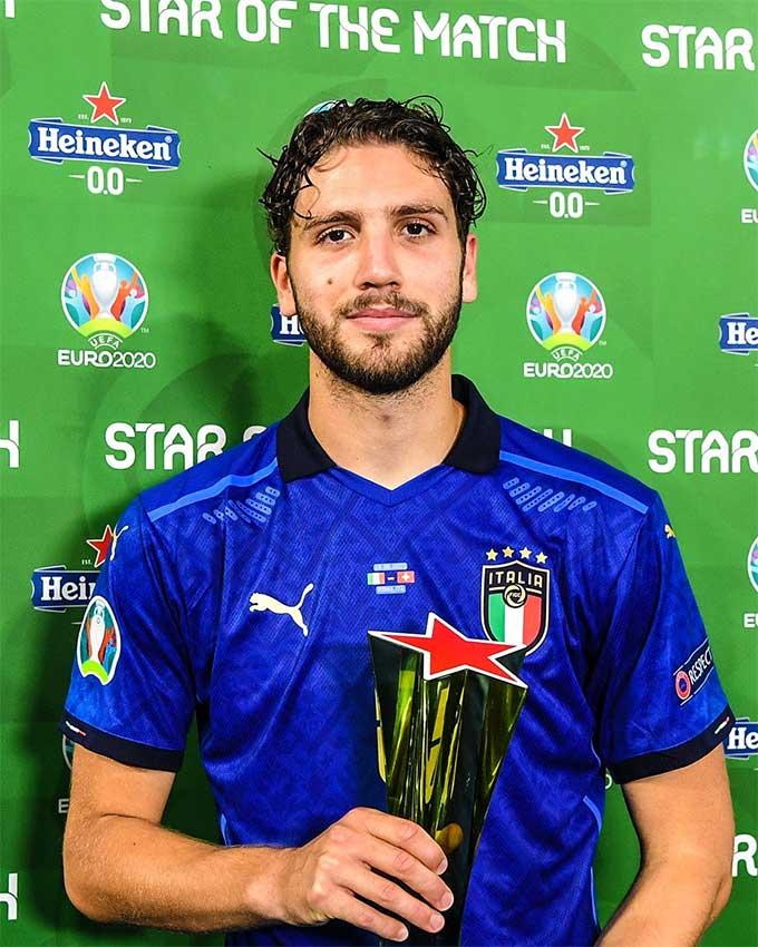 Locatelli được cầu là cầu thủ hay nhất trận Italia vs Thụy Sỹ