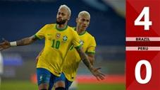 Brazil vs Peru: 4-0 (Copa Ameria 2021)