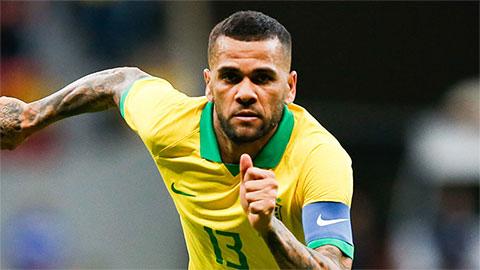 Brazil triệu tập Dani Alves dự Olympic Tokyo