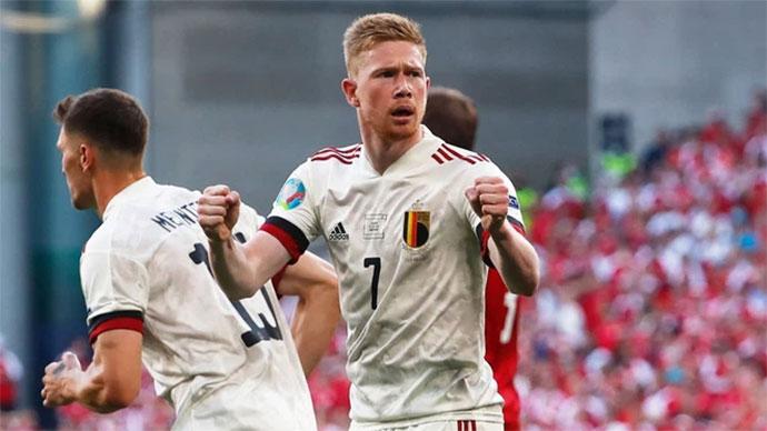 Siêu tiền vệ De Bruyne & 45 phút đẳng cấp thế giới trước Đan Mạch