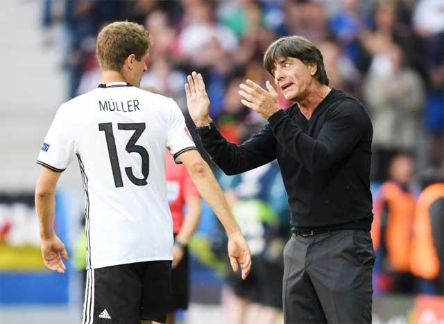 Thomas Mueller chưa đáp ứng được sự kỳ vọng của HLV Joachim Loew trong trận thua Pháp vừa qua