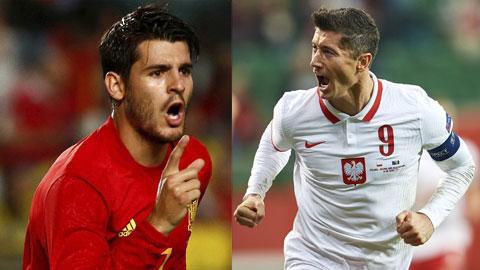 Alvaro Morata vs Robert Lewandowski: Bây giờ hoặc không bao giờ
