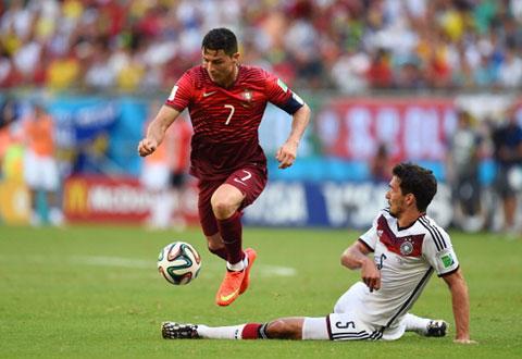 Ronaldo chưa từng ghi bàn vào lưới ĐT Đức trong 4 lần chạm trán