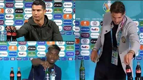 UEFA cảnh báo cầu thủ không làm theo Ronaldo hay Pogba khi họp báo
