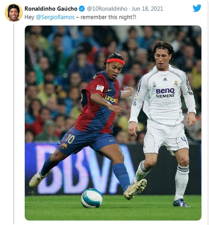 Ronaldinho châm chọc Ramos