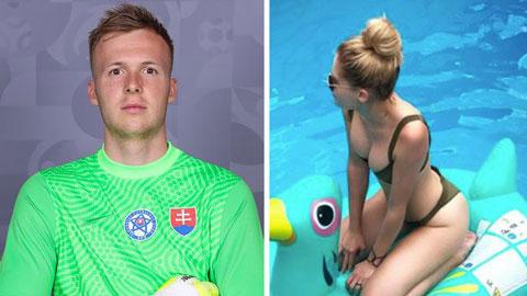 Thủ môn số 2 của ĐT Slovakia khiến nhiều người ghen tị vì cô bạn gái tài sắc vẹn toàn