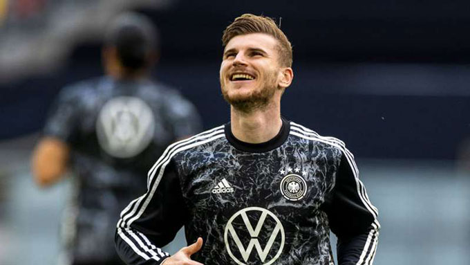Werner có thể mang tới diện mạo mới cho hàng công của ĐT Đức ở trận đấu với Bồ Đào Nha