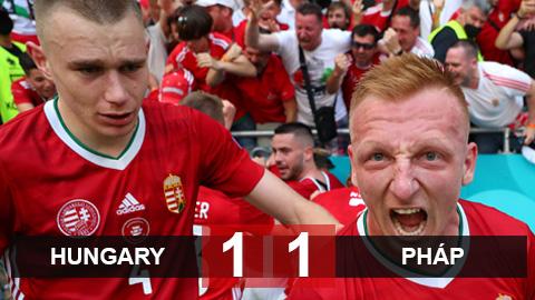 Kết quả Hungary 1-1 Pháp: Hungary nuôi hi vọng đi tiếp từ 1 điểm trước Pháp