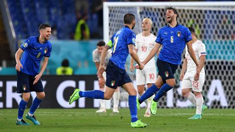 Italia thắng cách biệt ít nhất 3 bàn ở 5 trong 6 trận đón tiếp Xứ Wales trên sân nhà
