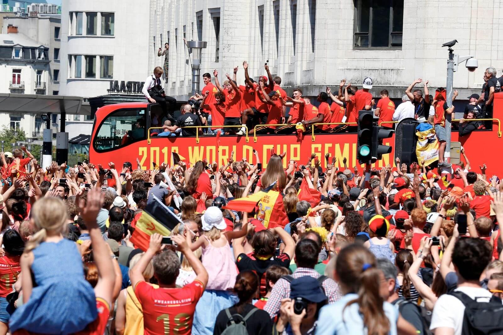 Mùa Hè này, ĐT Bỉ lại muốn ăn mừng tại Tòa thị chính Thủ đô với tấm HCV EURO trên cổ