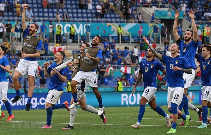 ĐT Italia tại EURO 2020 là đội sạch lưới vòng bảng với thành tích tốt nhất