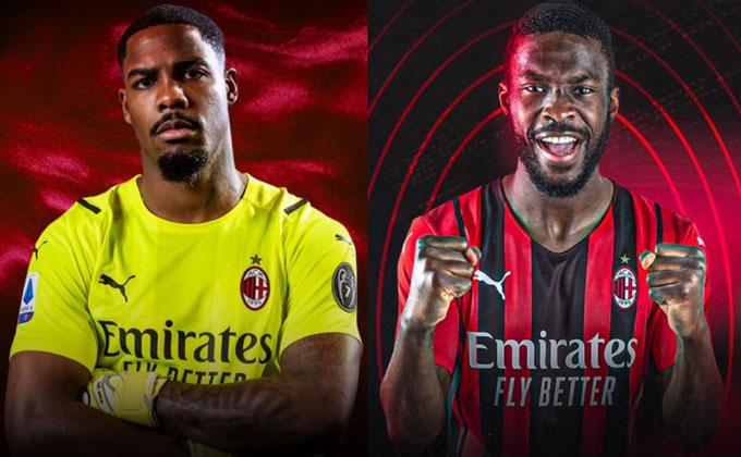 Maignan và Tomori là 2 tân binh đầu tiên của Milan ở kỳ chuyển nhượng Hè 2021