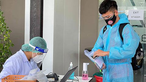 Đội Viettel xét nghiệm âm tính COVID-19 tại Thái Lan