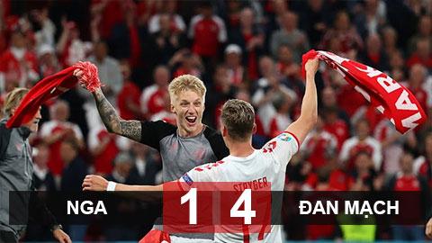 Kết quả Nga 1-4 Đan Mạch: Xơi tái 'gấu Nga', ĐT Đan Mạch theo chân Bỉ đi tiếp
