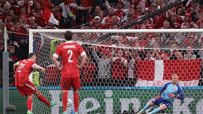 Cú đá 11m thành công của Dzyuba không đủ giúp Nga tránh được thất bại