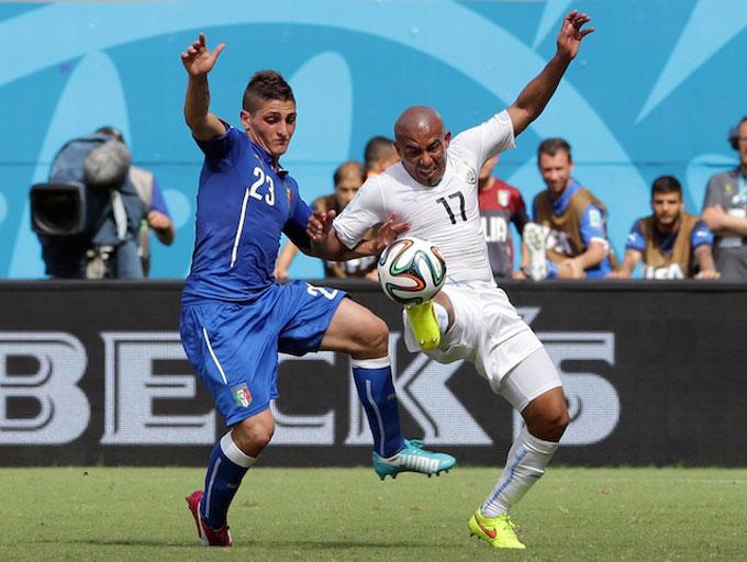 Cho đến trước EURO 2020, Verratti mới chỉ tham dự đúng 1 giải đấu lớn cùng ĐT Italia là World Cup 2014