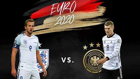 Vòng 1/8 EURO 2020: Đại chiến Anh vs Đức, Bồ Đào Nha vs Bỉ