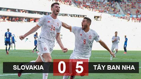 Kết quả Slovakia 0-5 Tây Ban Nha: Bước ngoặt từ Dubvraka