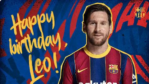 Barcelona chúc mừng sinh nhật Messi, ngầm thông báo sắp ký hợp đồng mới