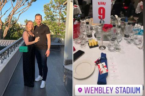 FA chiêu đãi dàn WAG Anh tại khoang VIP của sân Wembley