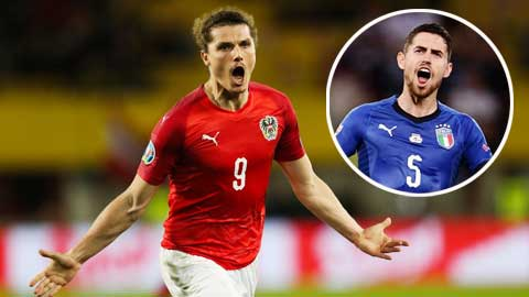 Italia vs Áo: Sabitzer & nhiệm vụ kiềm tỏa Jorginho