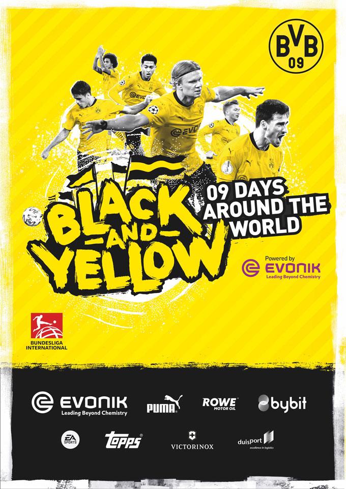 Poster du đấu Hè 2021 của Dortmund không có hình ảnh của Sancho