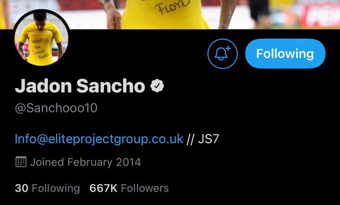 """Sancho gỡ bỏ thông tin """"là cầu thủ Dortmund"""" trên cả Twitter cá nhân..."""
