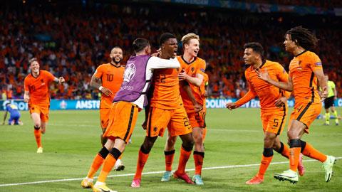 Các cầu thủ Hà Lan sẽ được ăn mừng chiến thắng thứ tư liên tiếp tại EURO 2020