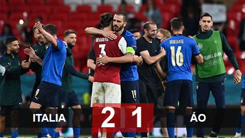 Kết quả ĐT Italia 2-1 ĐT Áo: Vất vả vượt qua Áo, Italia theo Đan Mạch vào tứ kết