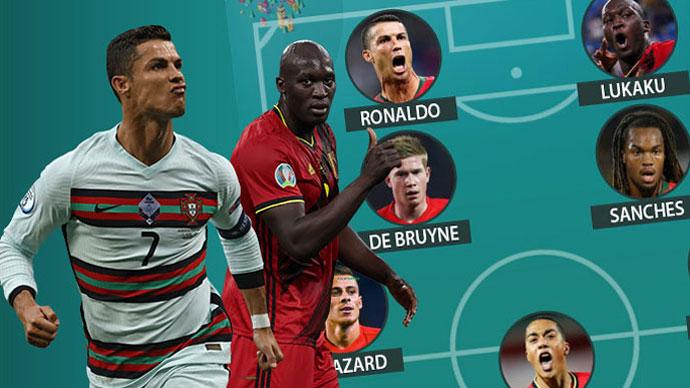Đội hình kết hợp Bỉ vs Bồ Đào Nha: Công siêu khủng, thủ đủ vững