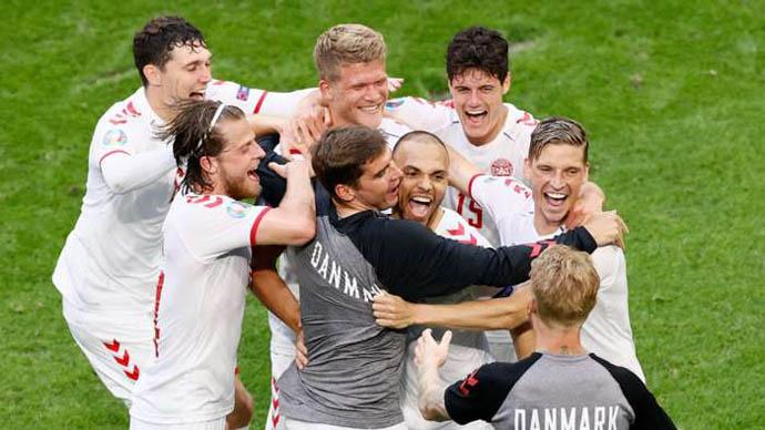 Đan Mạch lập thành tích chưa từng có tại EURO sau khi hạ Xứ Wales
