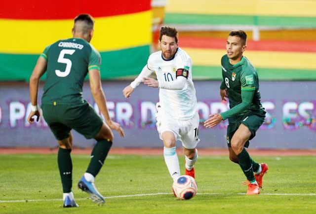 Argentina (giữa) đã thắng Bolivia 5/6 trận gần nhất
