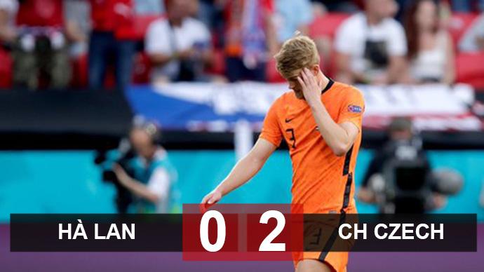 Kết quả Hà Lan 0-2 CH Czech: De Ligt dính thẻ đỏ, Oranje tan nát
