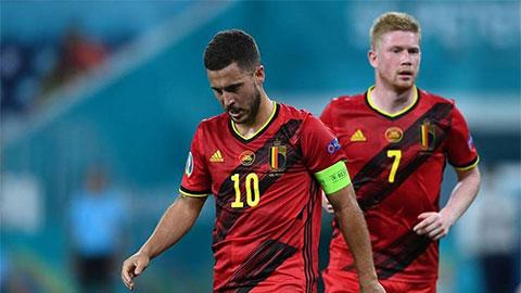 Bỉ mất cả Hazard lẫn De Bruyne khi gặp Italia