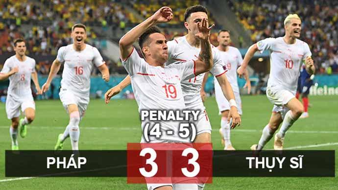 Kết quả Pháp 3-3 Thụy Sĩ (pen: 4-5): Mbappe hóa tội đồ, Les Bleus bị loại ở vòng 1/8
