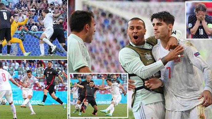 Điểm nhấn Croatia 3-5 Tây Ban Nha: Trận đấu điên rồ nhất EURO 2020