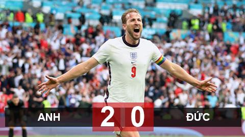 Kết quả Anh 2-0 Đức: Sterling và Kane đưa Anh vào tứ kết