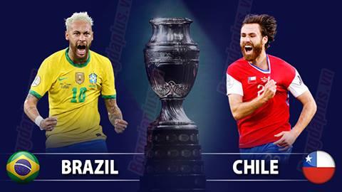 Nhận định bóng đá Brazil vs Chile,  07h00 ngày 3/7: Không thể cản Selecao