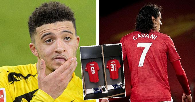 Sancho sẽ tiếp quản áo số 7 của đàn anh Cavani?