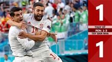 Thụy Sỹ vs Tây Ban Nha: 1-1 (luân lưu: 1-3), Bò tót thắng kịch tính trên chấm 11m
