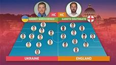 Đi tìm đội hình chính trận Ukraine vs Anh