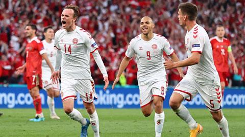 Các cầu thủ Đan Mạch sẽ được ăn mừng chiến thắng, đồng nghĩa với tấm vé vào bán kết