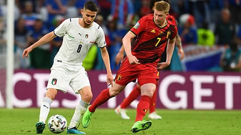 Chấm điểm Bỉ 1-2 Italia: De Bruyne lu mờ trước Jorginho
