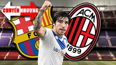 Tin chuyển nhượng 3/7: Barcelona sắp thua Milan trong cuộc chiến giành sao trẻ Italia