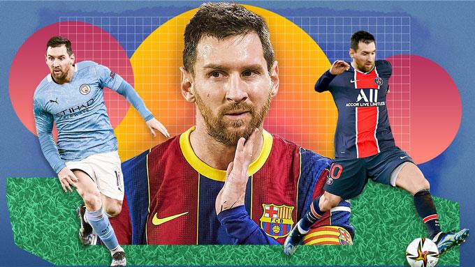 Messi có thể đầu quân cho Man City hoặc PSG nếu không gia hạn với Barca