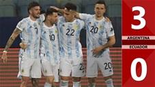 Argentina vs Ecuador: 3-0 (Tứ kết Copa America 2021)