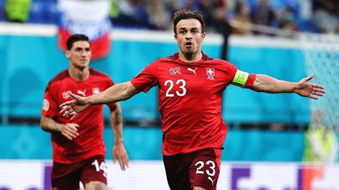 Shaqiri, cầu thủ ghi bàn tốt nhất của Thụy Sỹ tại EURO & World Cup
